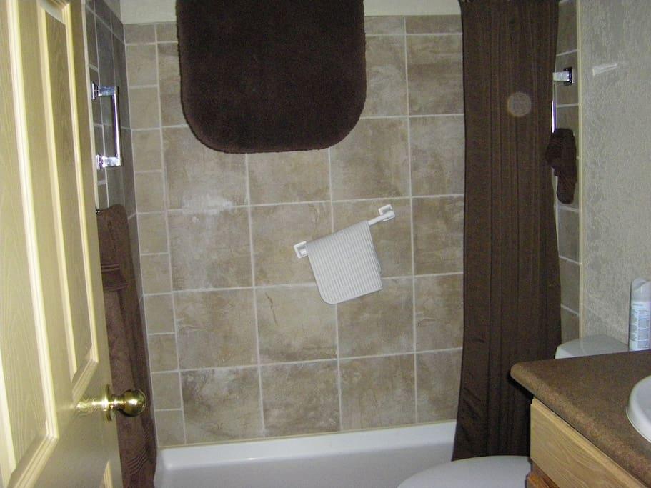 Downstairs bath             bath