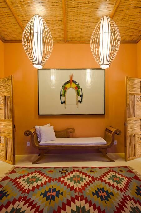 entrada do bungalow  4 para suites masters