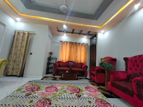 One bedroom available with beautiful furniture and lighting , we can cater 3-4 guests.