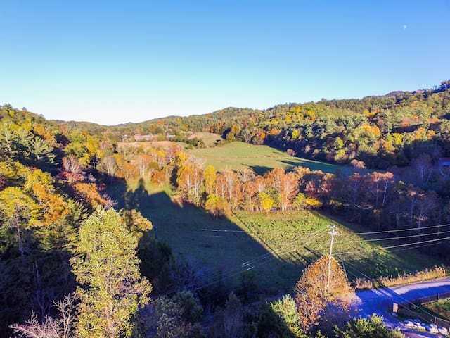View from wrap around deck Fall 2017
