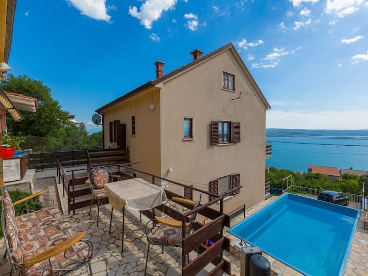 Six bedroom House, in Dramalj (Crikvenica), Outdoor pool, Outdoor whirlpool