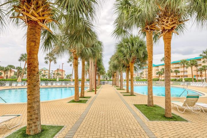 Family-friendly coastal condo with shared pool and easy beach access