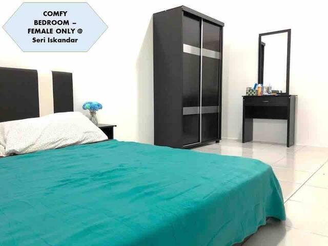 COMFY Bedroom - FEMALE Only @ Seri Iskandar