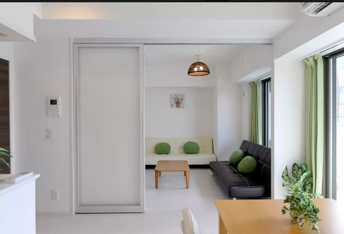 New and Cozy Flat/6 people MAX/ 60m2/ Free Wifi - Taitō-ku - Wohnung