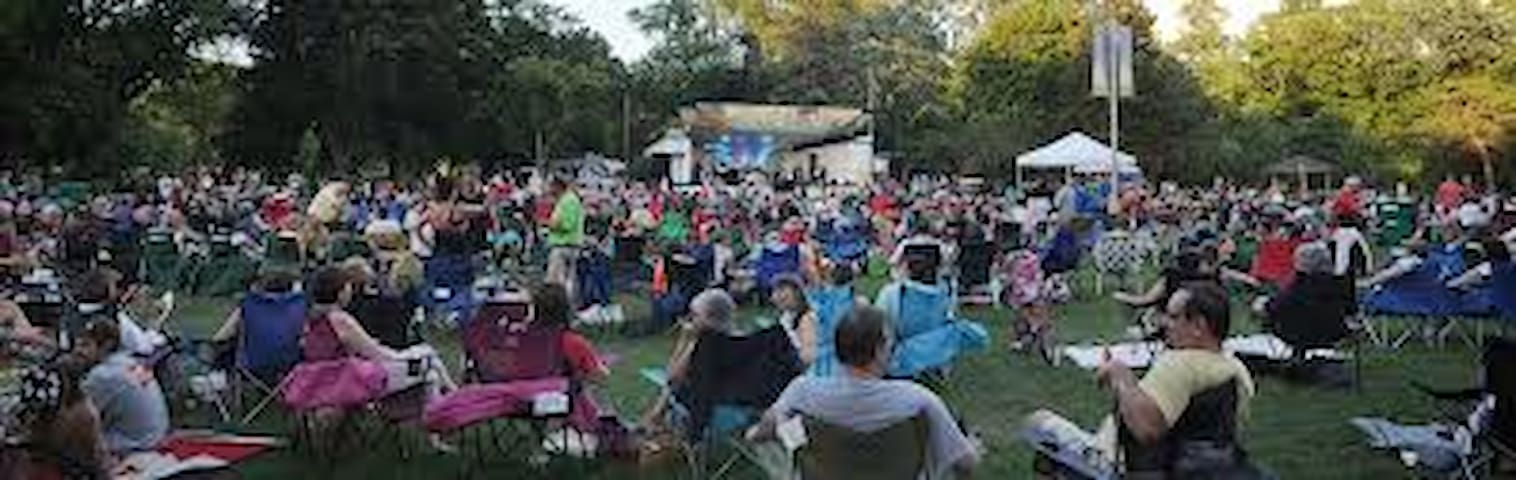 Free Friday night Summer Sounds in Cedar Creek Park all summer long.  We have a blanket, chairs, cooler, and whafever else you need to make in the best Friday ever.  Carryins allowed