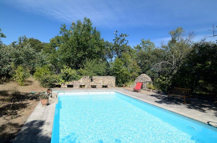 Jolie maison, vue exceptionnelle, piscine privée - Gordes - Apartamento