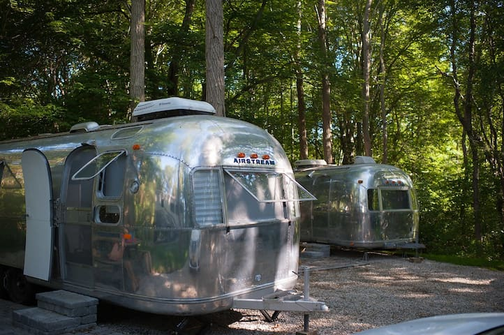 Glamp Newport -- 1972 Airstream Ambassador