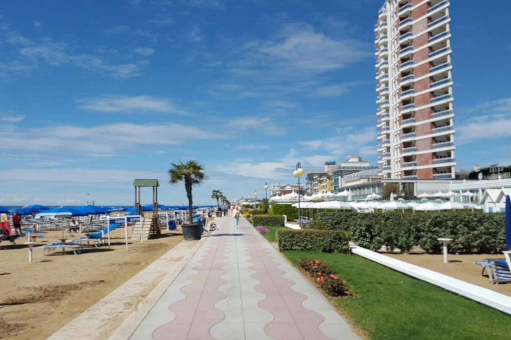 view of the beach and walking lane