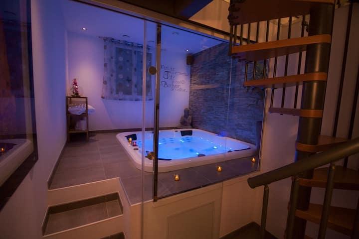 Chambre d'hôtes avec spa privatif intérieur