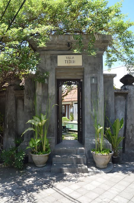 Entrance to the villa