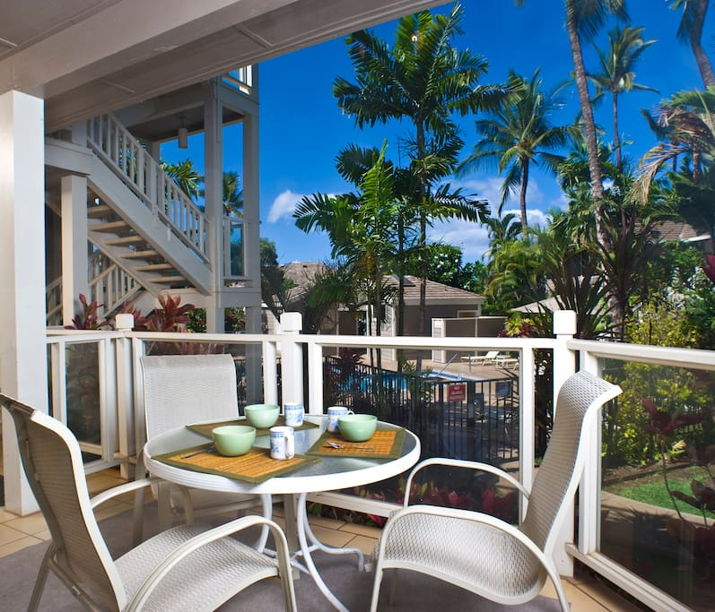 Lanai/Patio Overlooking Garden Pool