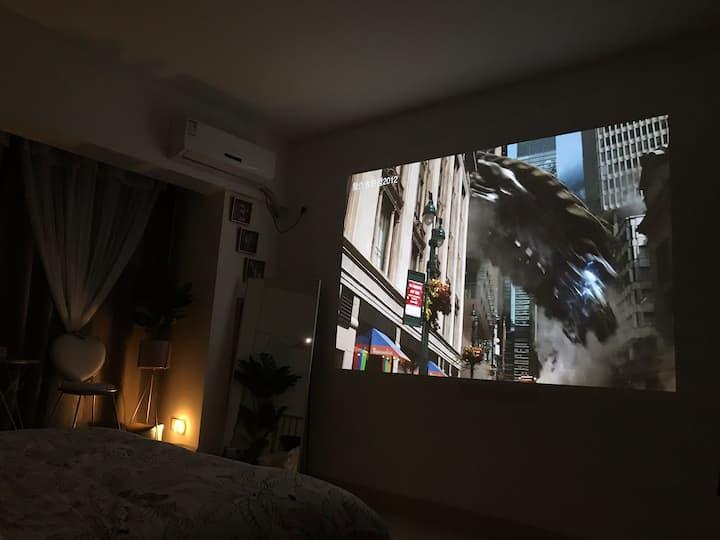 旺城广场/北欧小居/高楼/150寸大投影房
