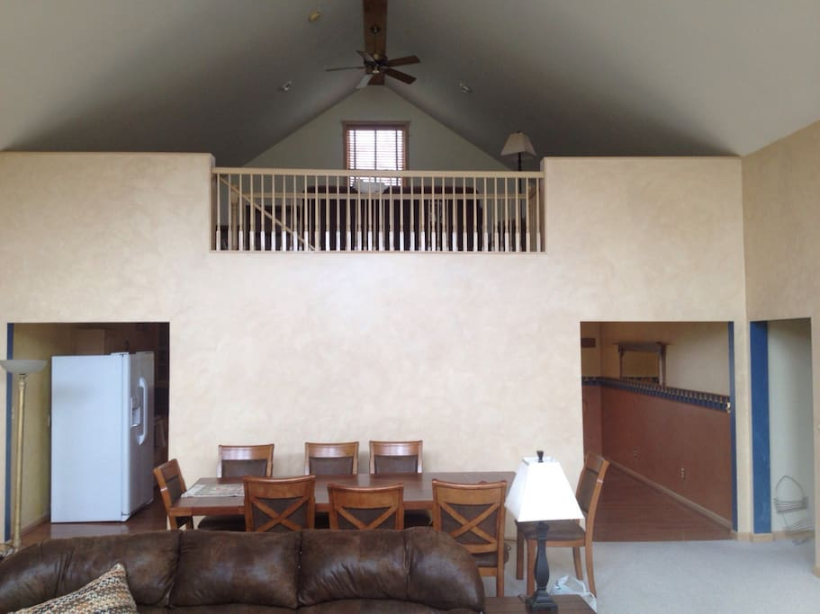 Dining room, loft over eat-in kitchen