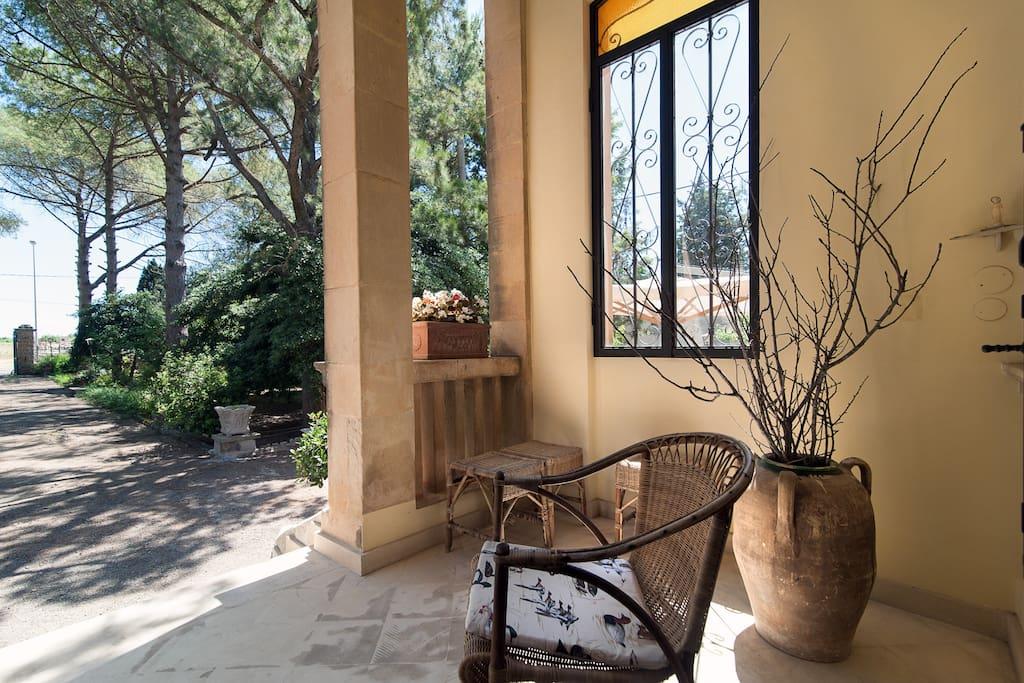 Angolo veranda coperta