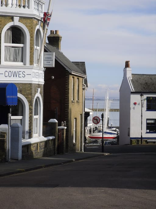 Seconds from Cowes Yacht Haven