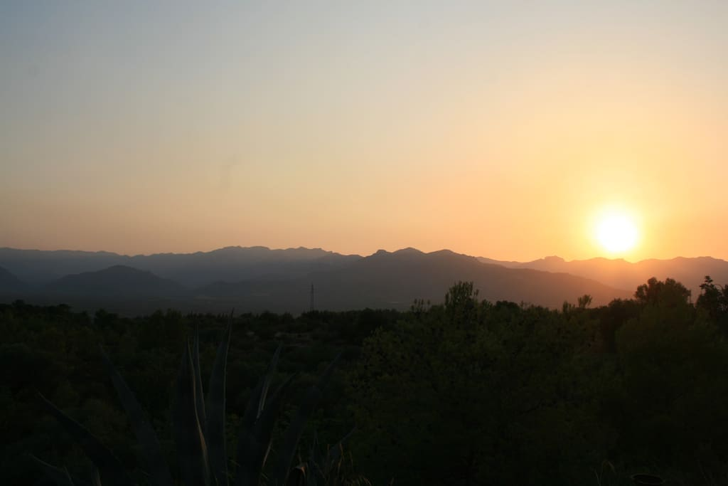 Sunset view from cabin