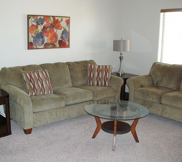 Comfortable seating in living room.