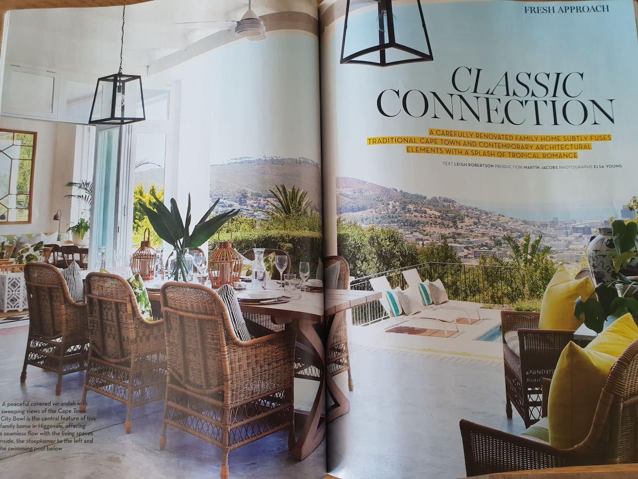Magazine cover of veranda