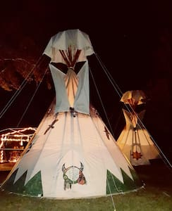 Old Owl's Tipi Fun lakefront - Floral City - Tipi
