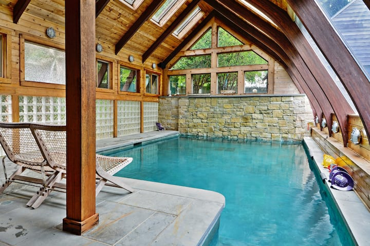 Secret Healing Oasis with Indoor Pool