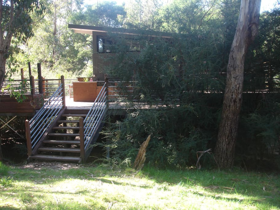 The largest outdoor deck area in Halls Gap