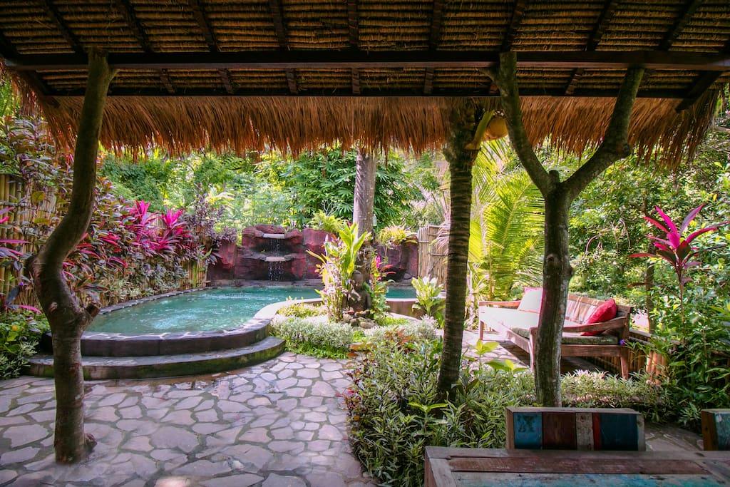 Rumah Sumatra outside relaxing area