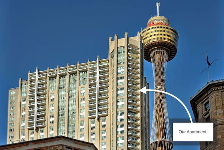 Our corner apartment, right next to Sydney Tower