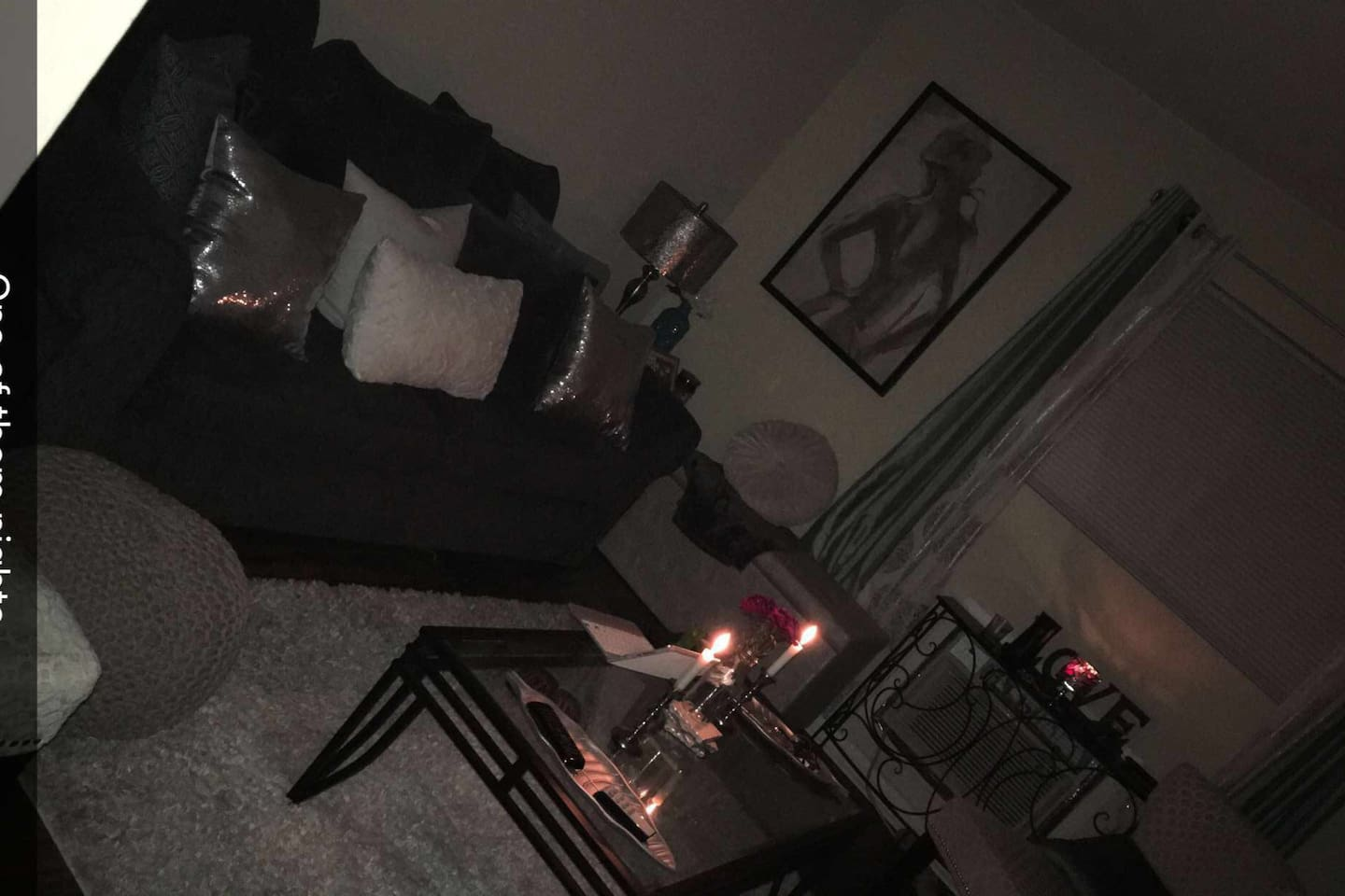 This is the living room of the aprtment fully decorated.