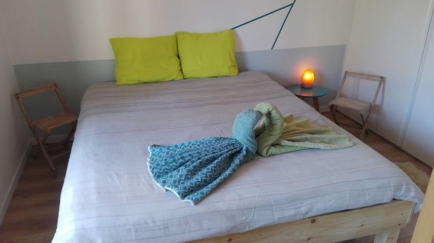 Chambre douillette et minimaliste en rez de jardin - Annecy-le-Vieux - Flat