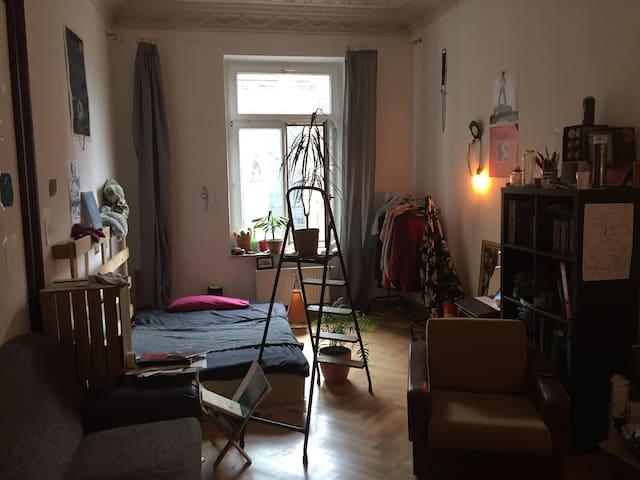 Großes Zimmer in Altbauwohnung, Leipzig Zentrum