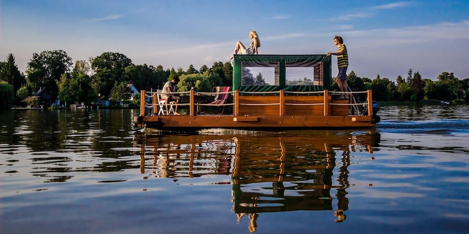 Urlaub auf dem Floß - Heidesee - Boot