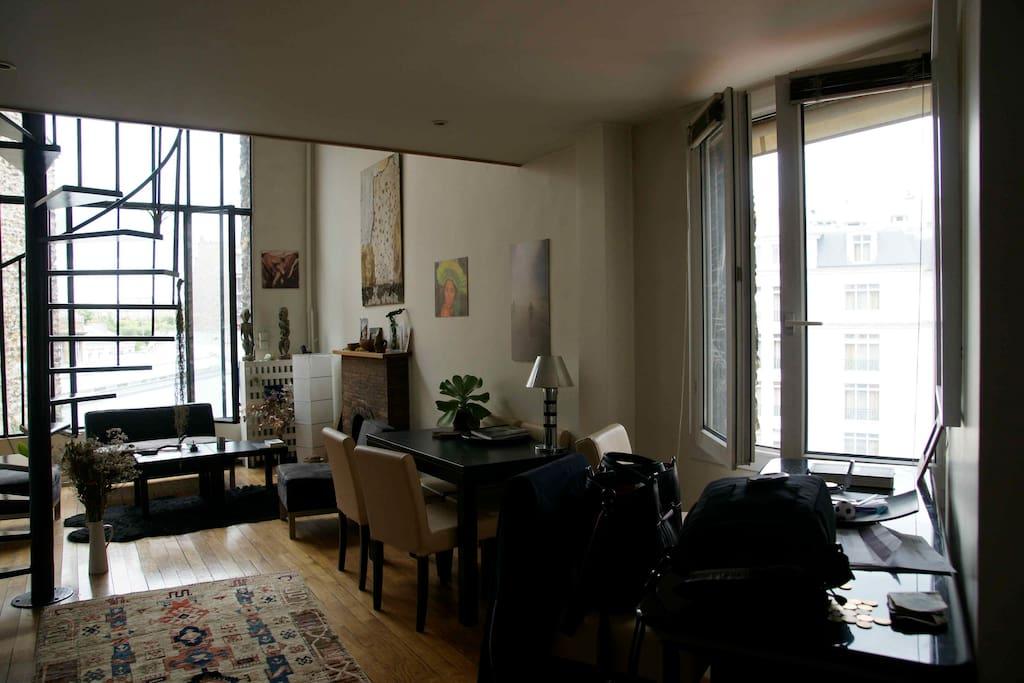Atelier d 39 artiste montparnasse apartments for rent in paris le de fra - Location atelier d artiste paris ...