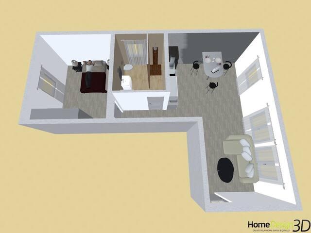 Plan 3D Appartements 2 et 4
