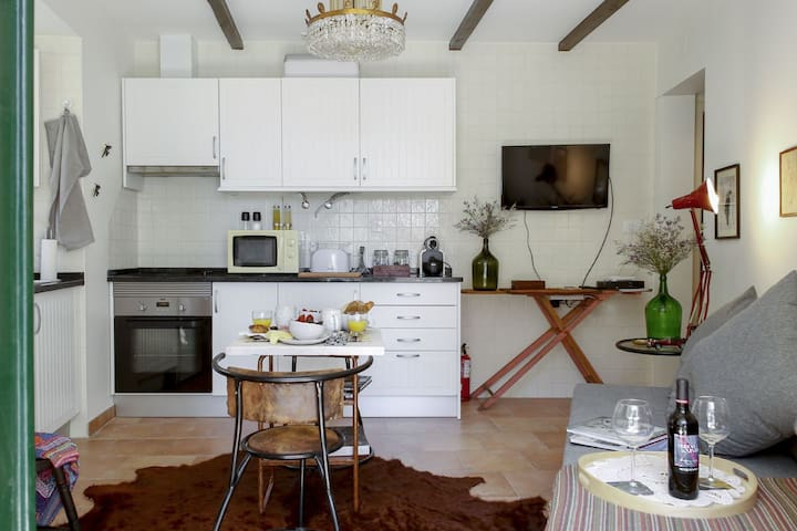 The Living room and the Kitchen