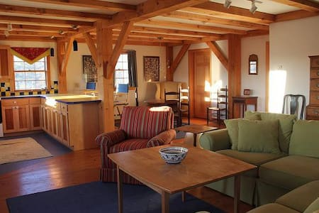 Rural converted post and beam barn - Alna - Hus