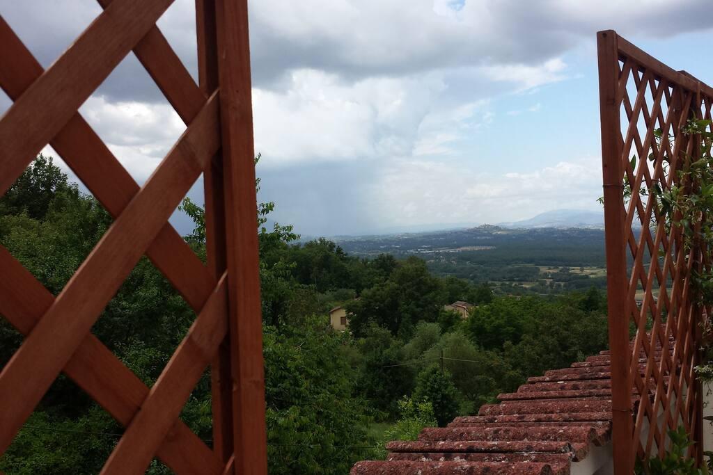 Vista panoramica dalla mansarda