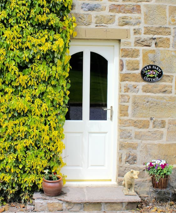 Front door welcoming you to Carr Farm Cottage.