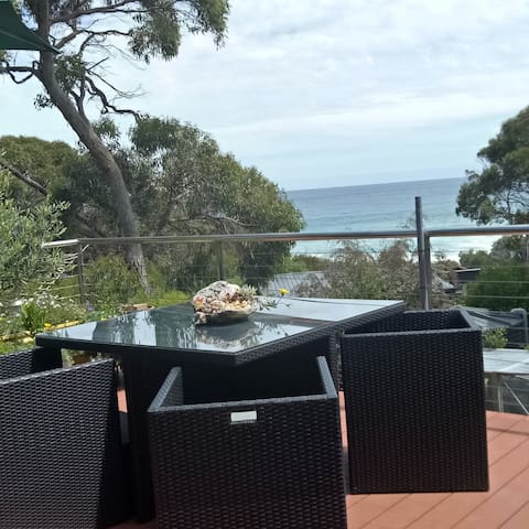 Skenes Creek  - Great deck,  Views and Breakfast.