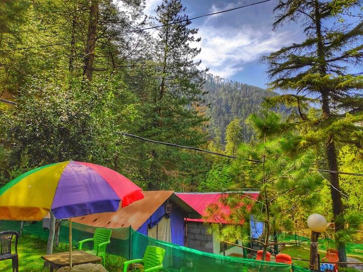 Jibhi Camp & Cafe | River Side | Breakfast Dinner