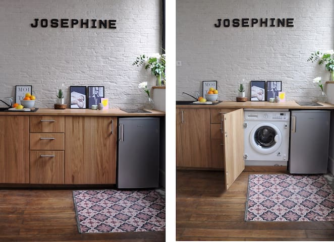 Need to wash some clothes ? you can use your private washing-machine : )