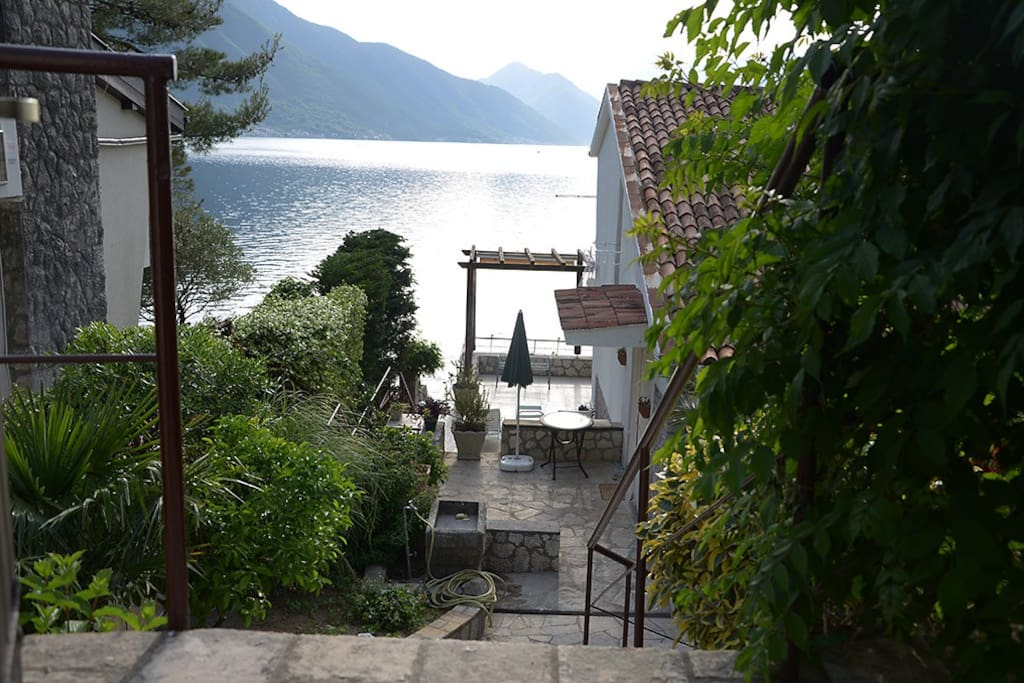 Entrance to the house from the main  Kotor road