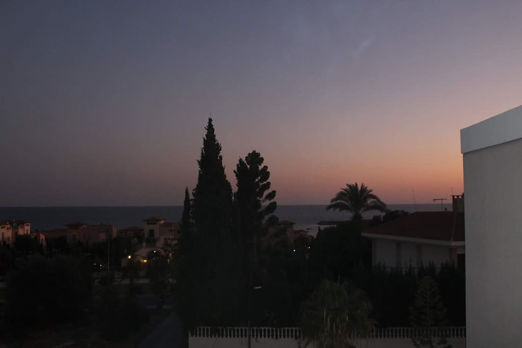 Beautiful Sunset Views from the balcony