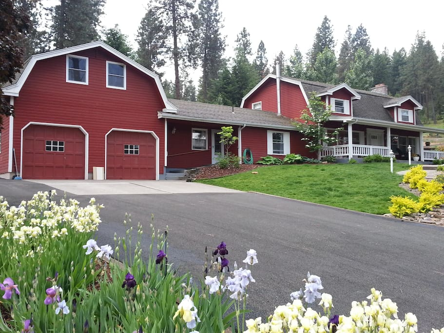 Peaceful and relaxing home set on 1.5 acres and surrounded by forest.