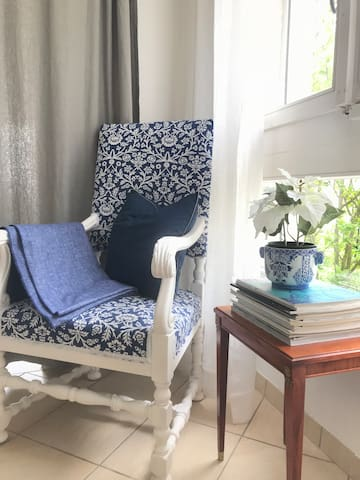 There is plenty of space for reading and relaxing