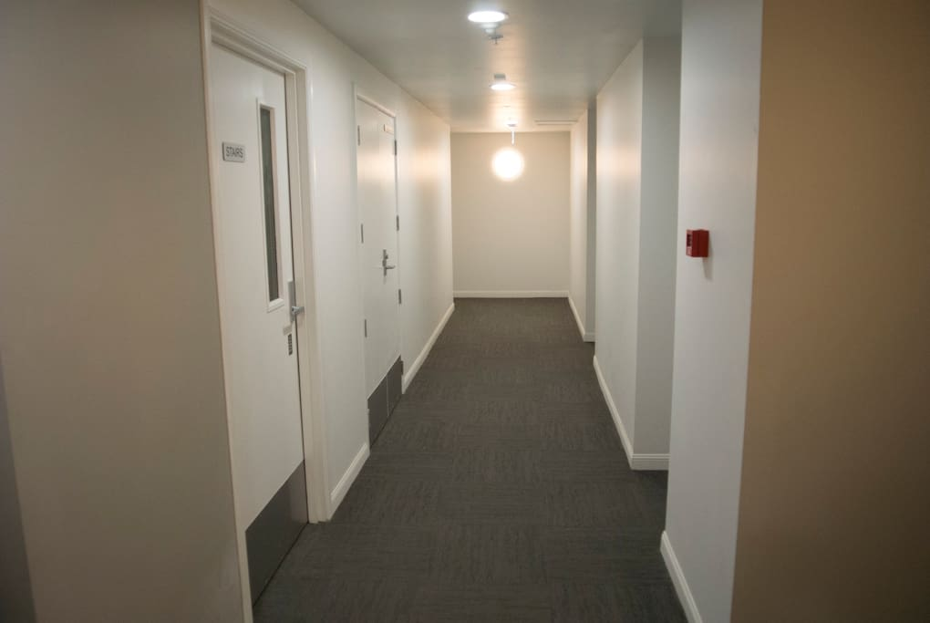 This is the hallway of the 2nd floor before entering into the apartment room.