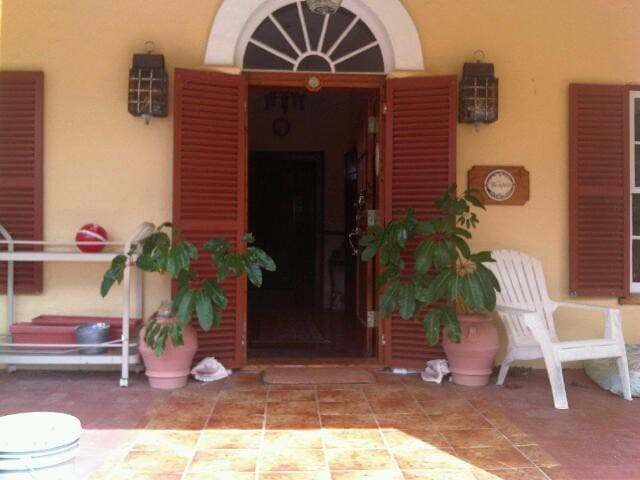 Main House Entrance - Old Bermuda Style