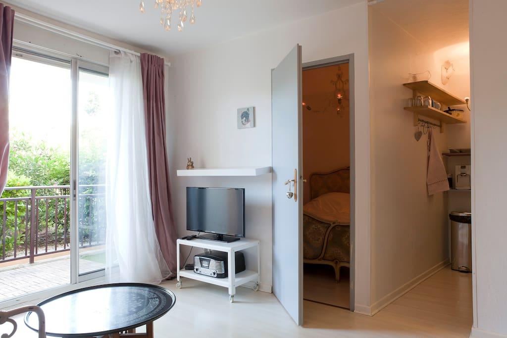 Chambre séparé, pour une nuit douce au calme et romantique...
