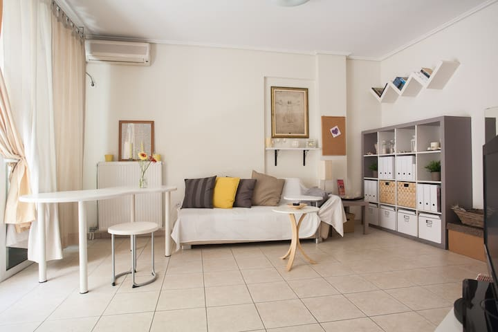 Nice & Cozy flat #1,near city center & metro, wifi - Kallithea - Apartment