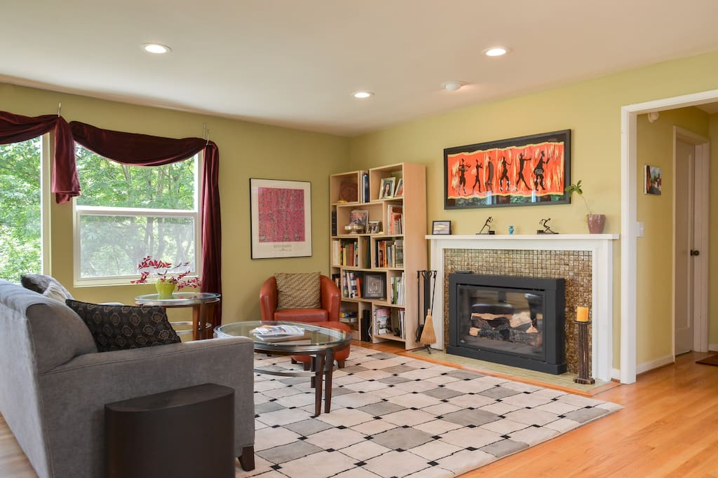 Living room - sitting area in front of gas fireplace