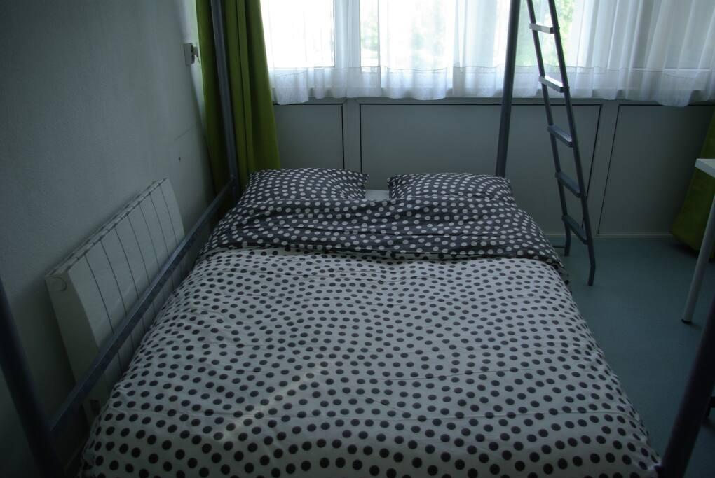 Deuxième couchage. Les draps sont fournis.